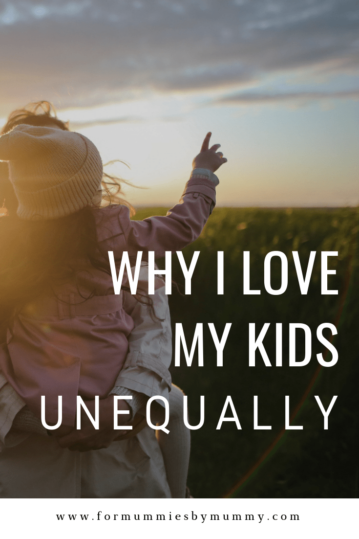 loving my kids unequally. #momlife #christianmom #unconditionallove #parenting