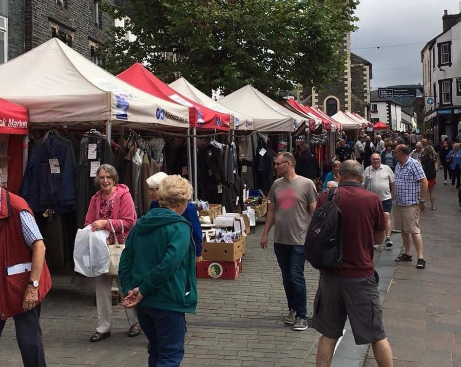 Summer Market day in Keswick