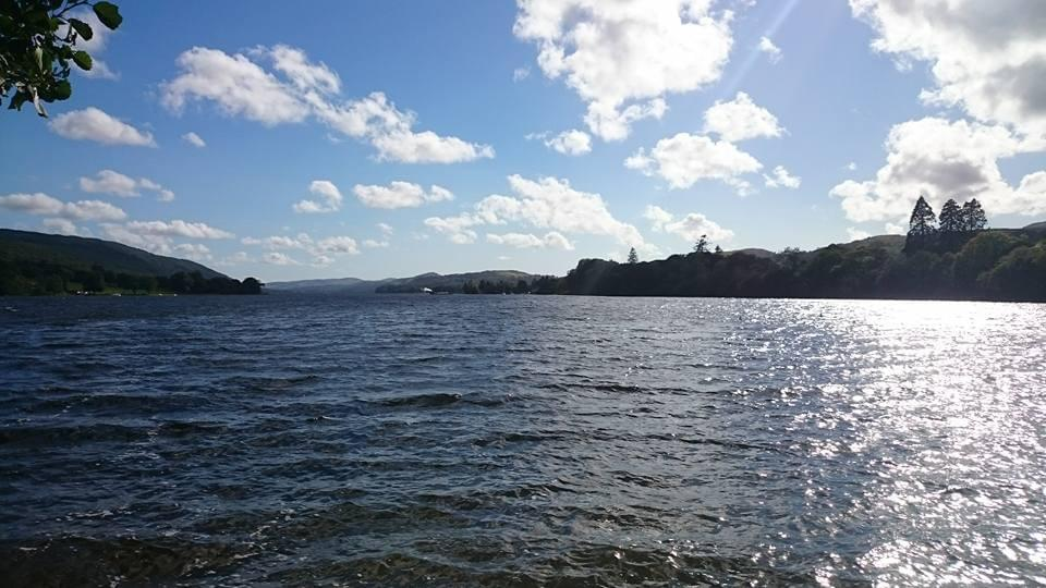Coniston Water in the sun