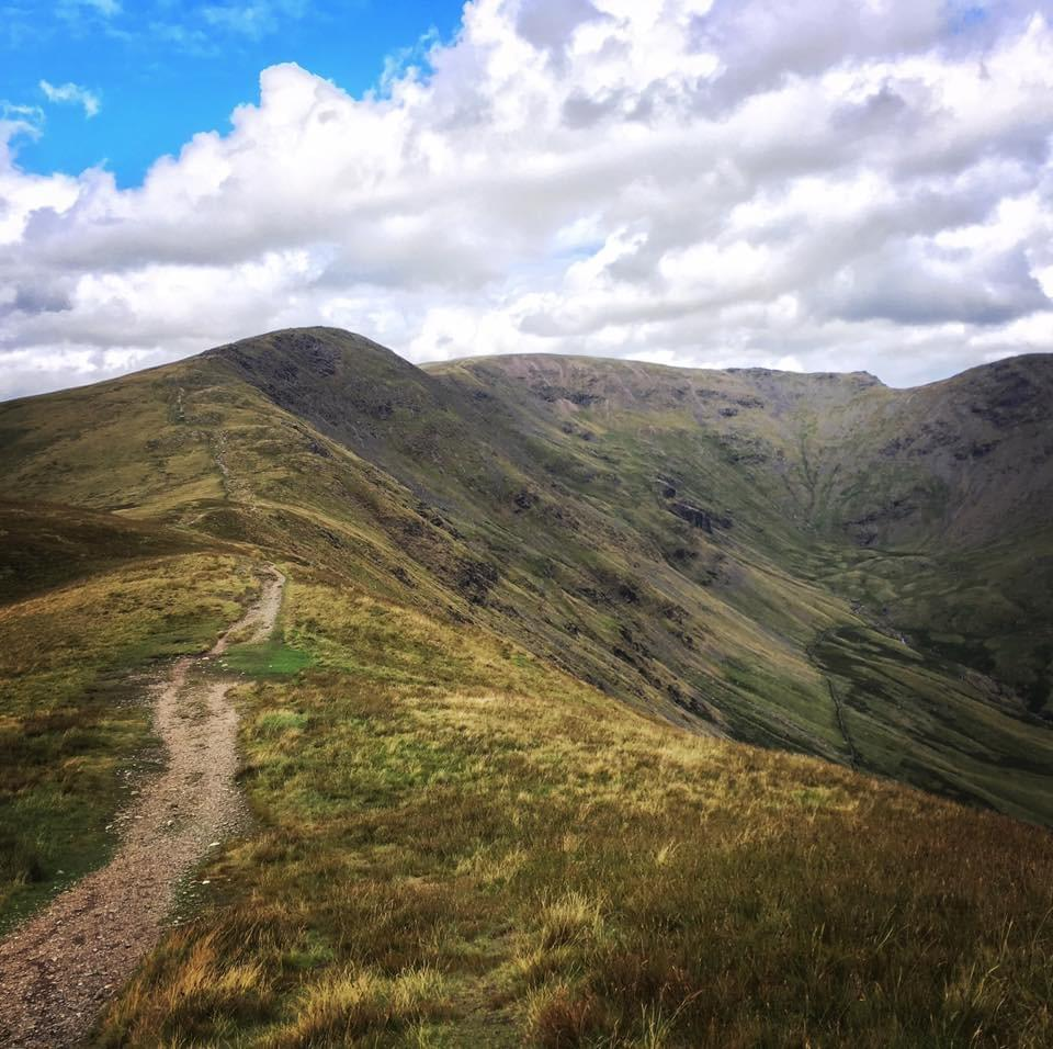 walking the fairfield horseshoe in the Lake District