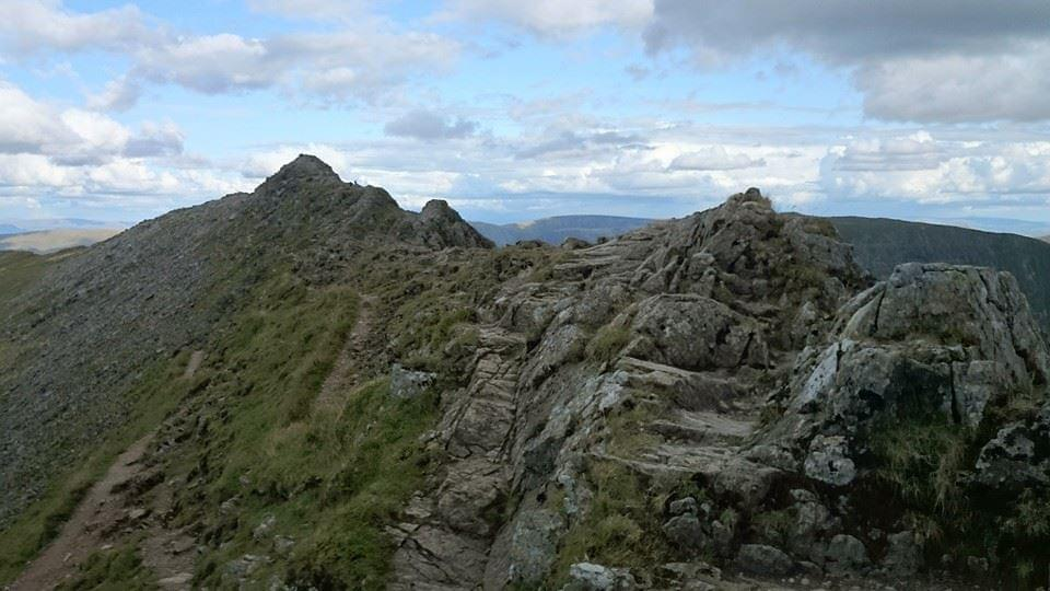 Striding Edge, Helvellyn in the Lake District