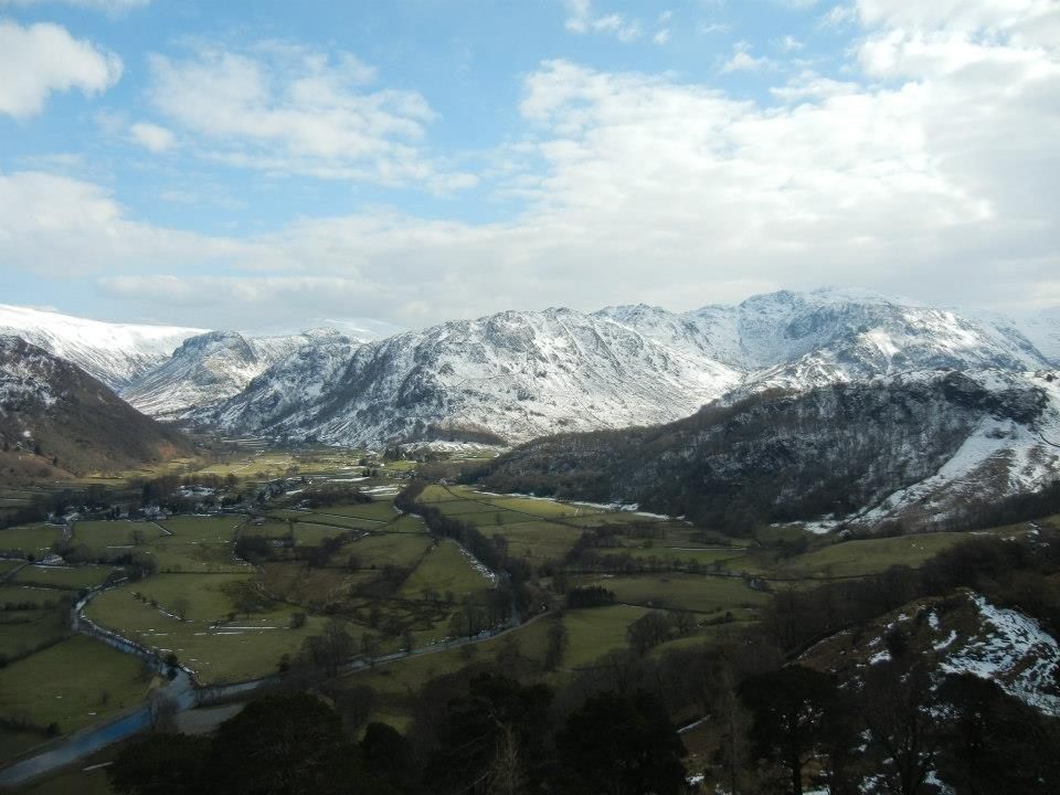 Winter in Borrowdale in the Lake District