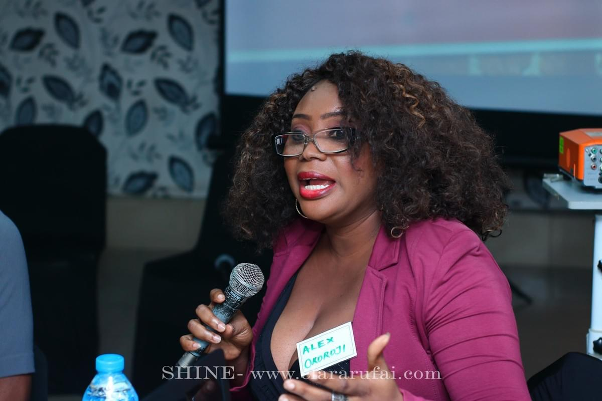 Alex Okoroji Speaking at Clara Rufai's Shine Vision Gathering in Lagos