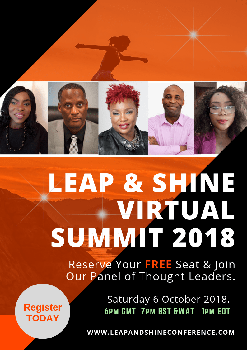 Alex Okoroji joins Clara Rufai, Corey Hicks, Vaneese Johnson, Uchenna Ilo as Speakers at the 2018 Leap and Shine Conference
