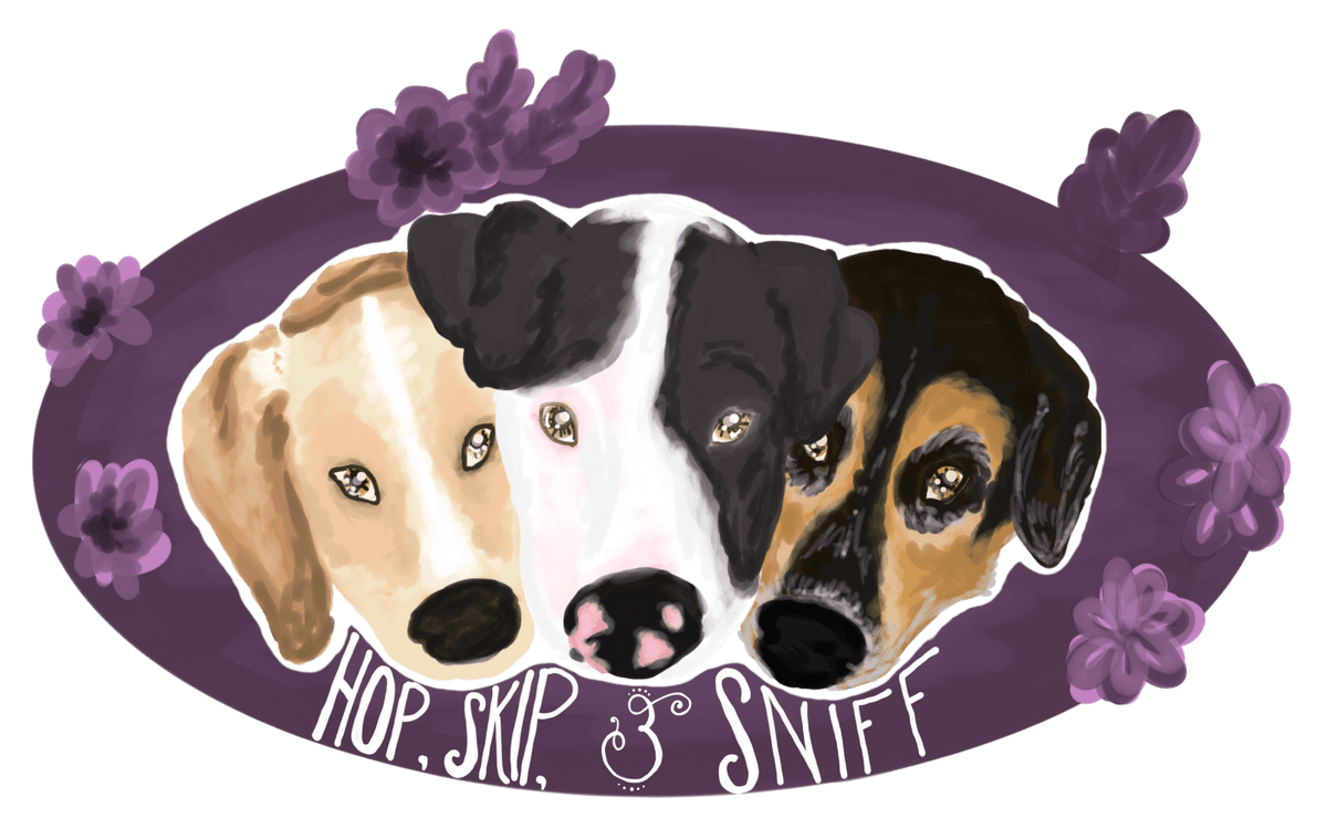 Hop, Skip, & Sniff; Johnstown, PA; all-natural, homemade, sniffer-approved snacks for your canine companion