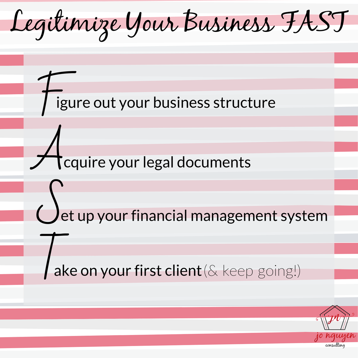 Legitimize Your Business FAST by Jo Nguyen Consulting