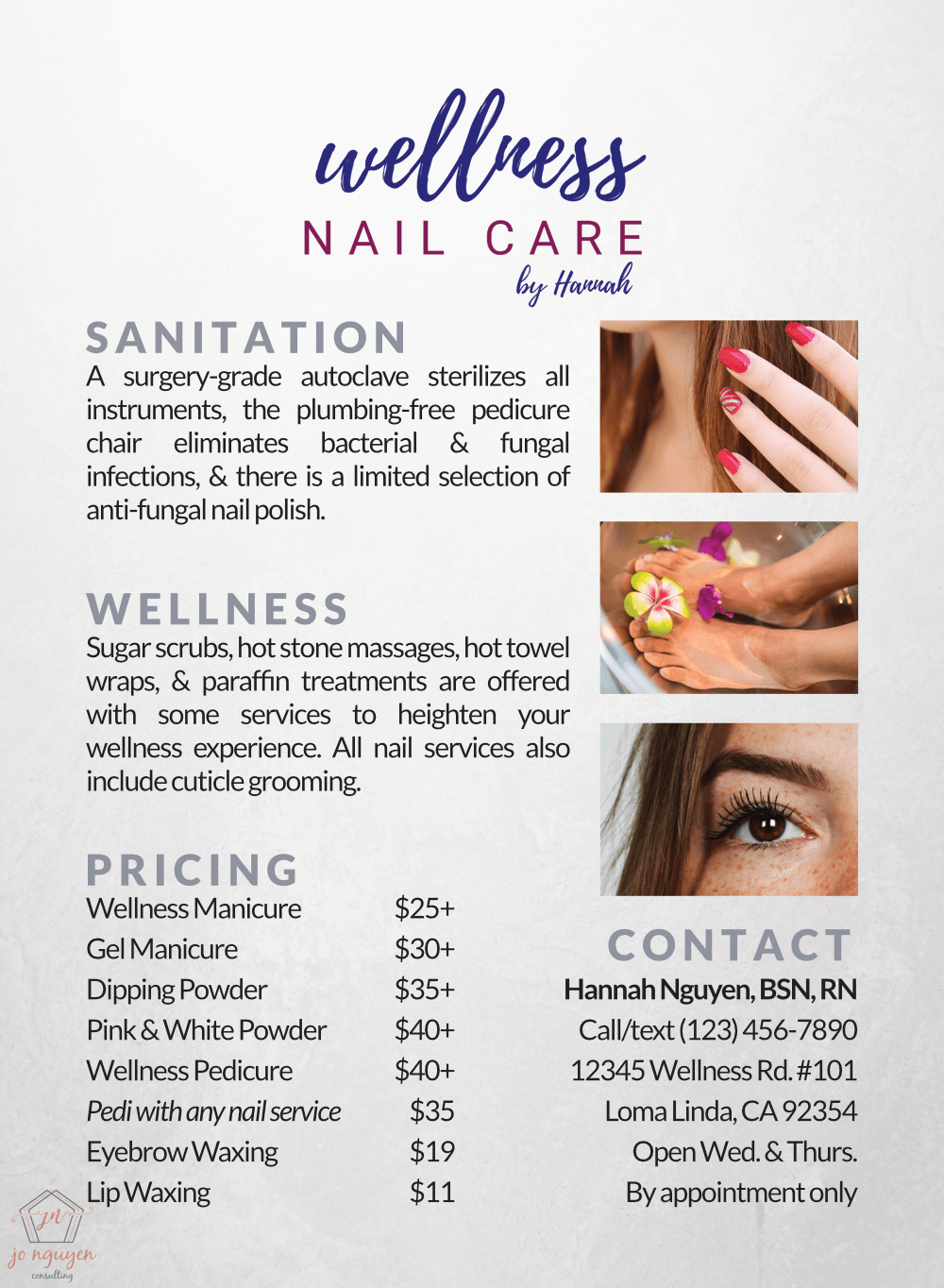 Wellness Nail Care flyer