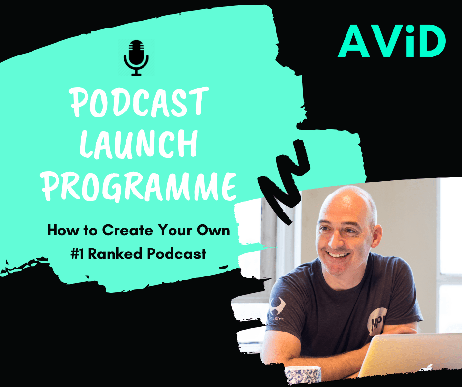 ALEX CHISNALL PODCAST LAUNCH PROGRAMME  SCREW IT JUST DO IT AVID INTERNATIONAL AUDIO COURSE
