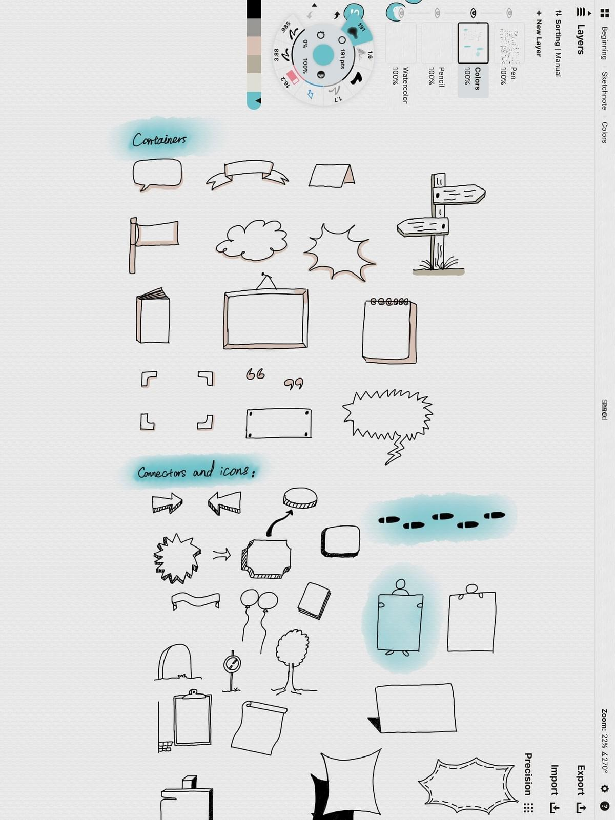 sketchnote containers