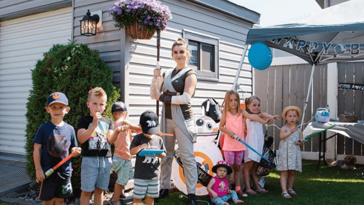 Star Wars Birthday Party Edmonton Rey Skywalker Performer Jedi Knight Training Party Package
