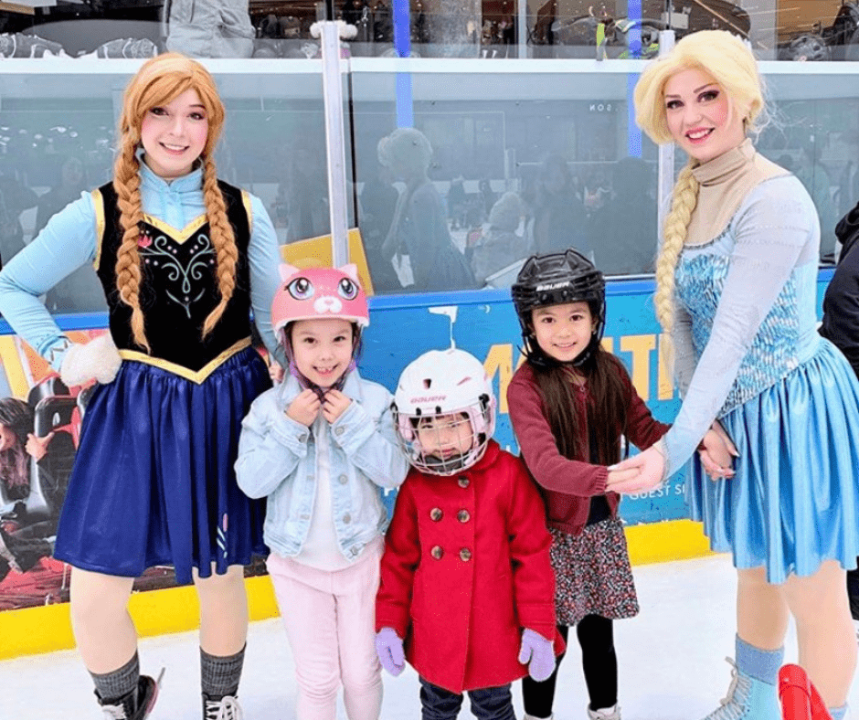 Princess, Superhero Character Entertainment Edmonton Special Event Skating Performers for parties, festivals, corporate events