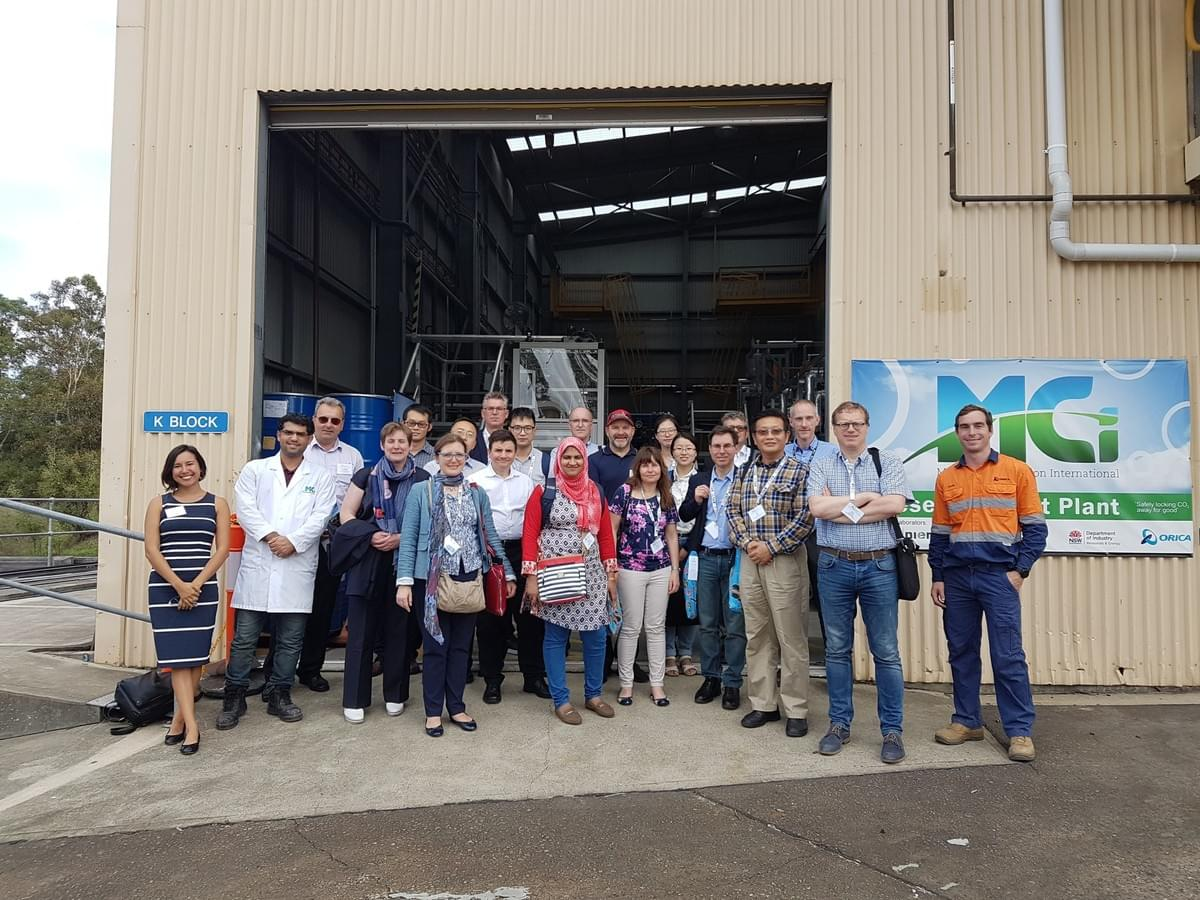 ACEME delgates at pilot plant visit in 2018