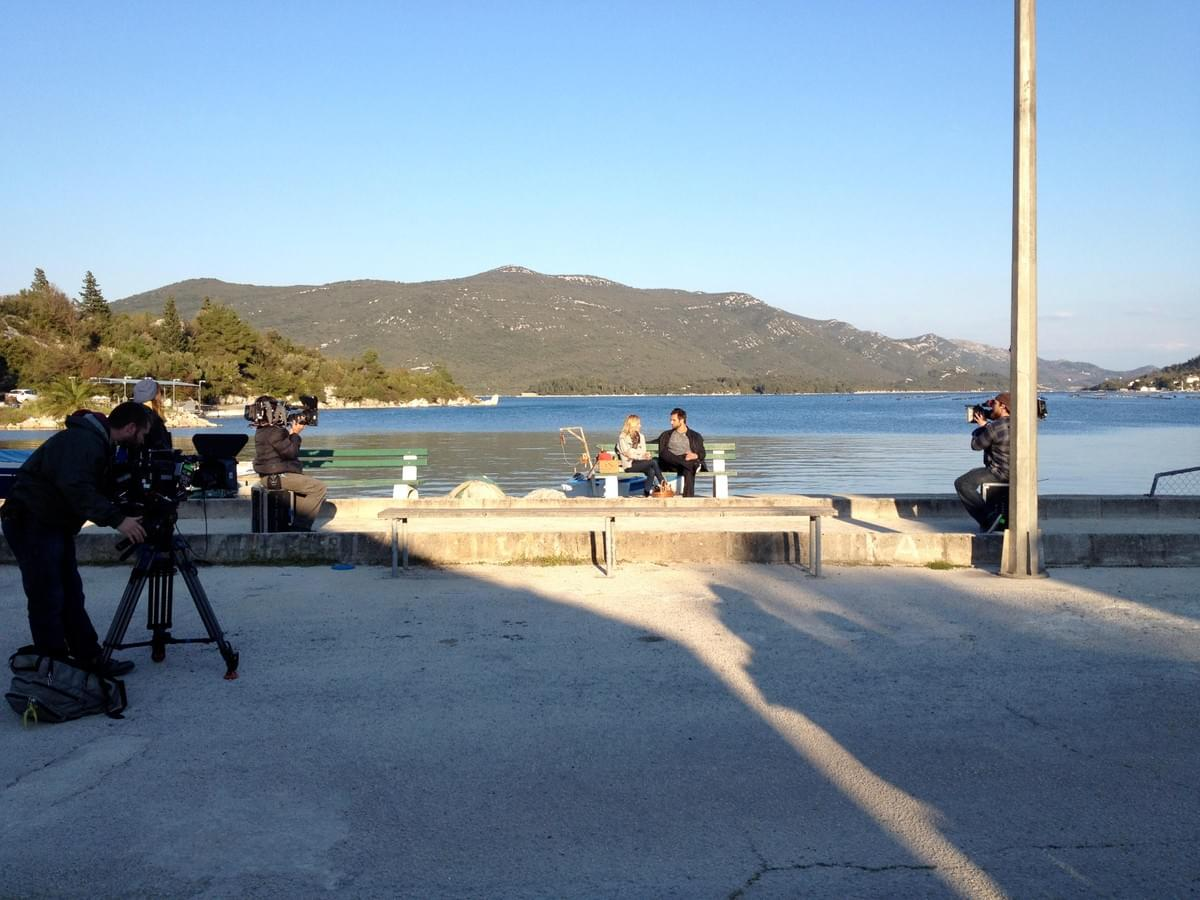Emily Maynard & Ryan on their date in Croatia.