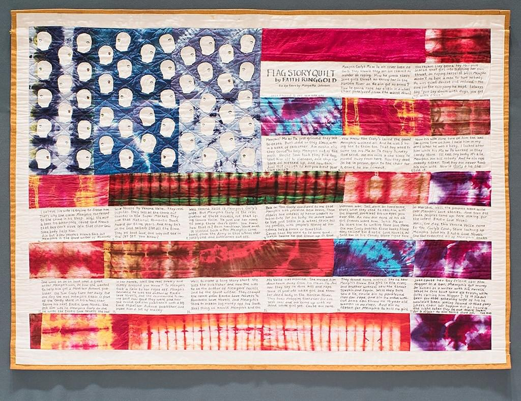 "Image: ""Flag Story Quilt"" by Faith Ringgold, 1985"