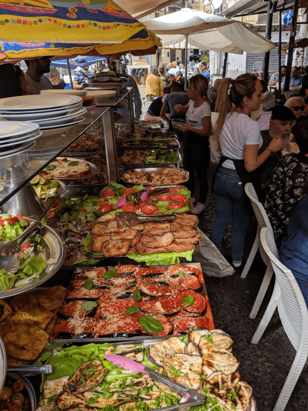 Our lunch at the market in Palermo!