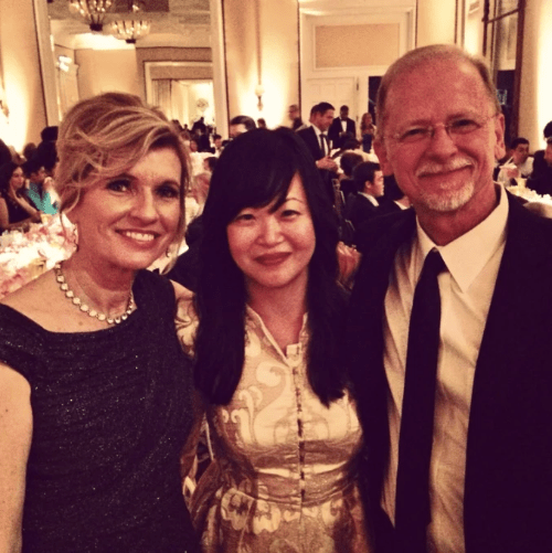 Sean Lowe's parents, Jay and Sherry, and I at Sean and Catherine's wedding.