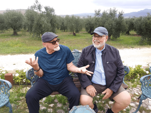 Brothers Paul and Pete Mazzara at Planeta Winery, Sicily