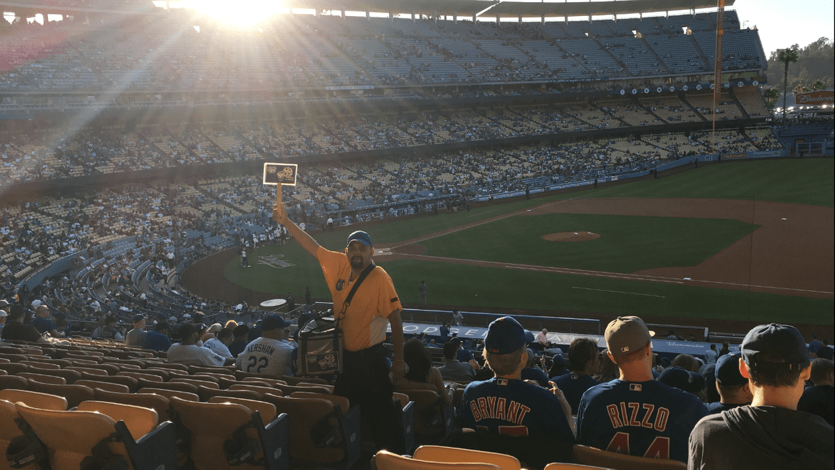 Vendor at Dodger Stadium