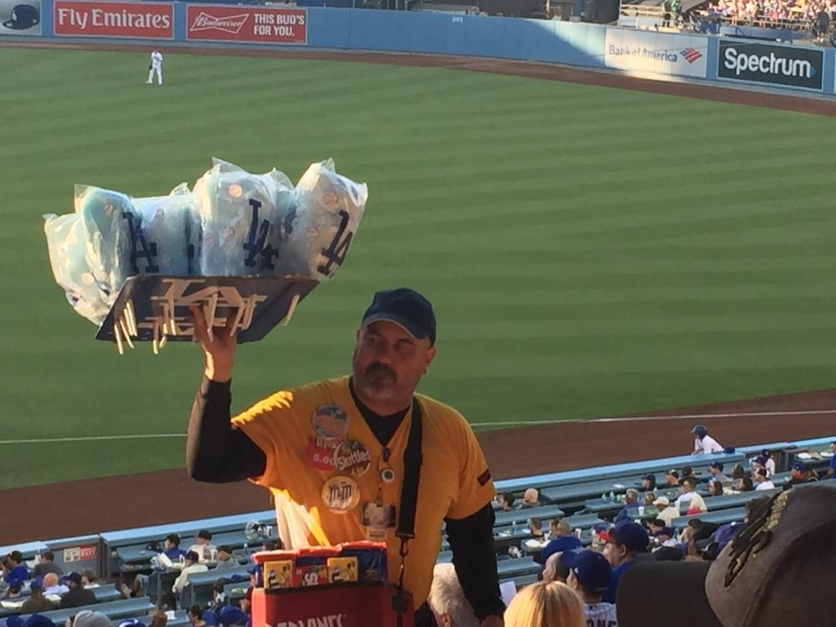 Cotton Candy Vendor at Dodgers Stadium in Los Angeles