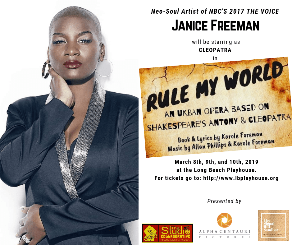 Janice Freeman (top 10 of NBC's The Voice) stars in Rule My World