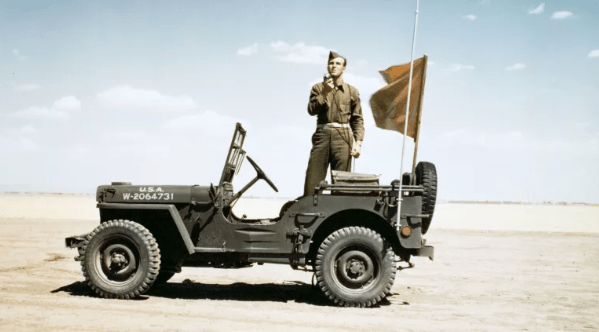 My grandfather drove one of these American made jeeps in China.