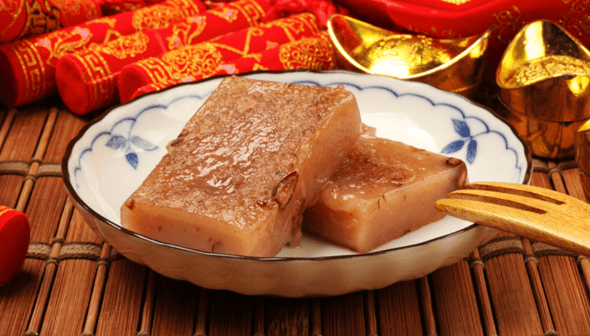 Sweet Rice Cakes for Chinese New Year