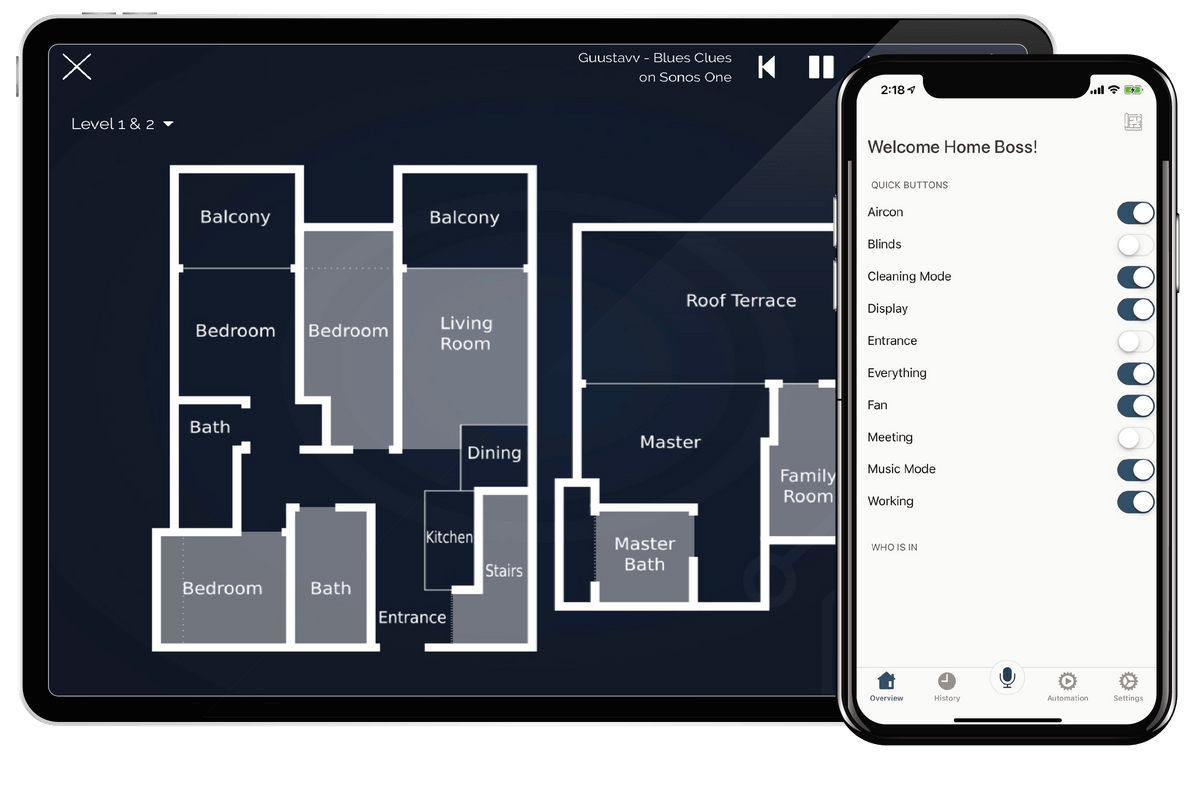Smart Floor Plan | Smart Home Automation | Smart Home System