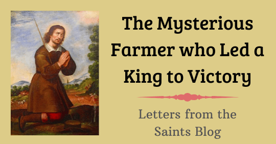 Saint Isidore the Farmer at prayer