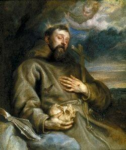 Saint Francis of Assisi with the stigmata