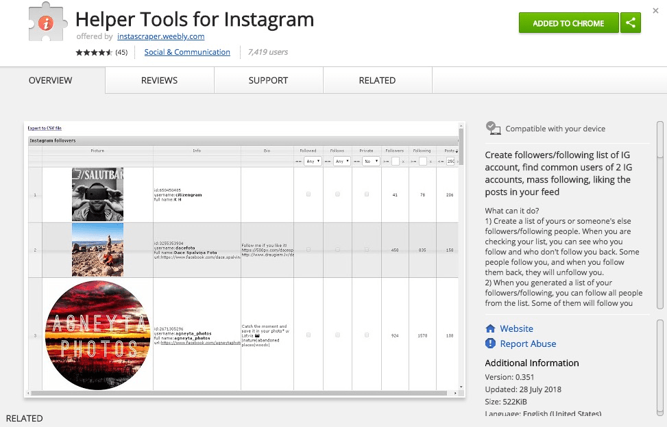The Best Free Chrome Extensions for Hacking Instagram Growth