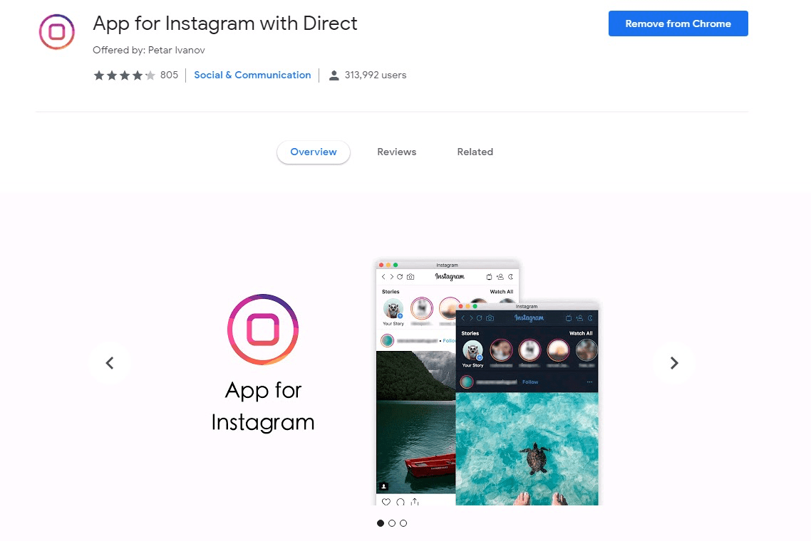 Desktop Instagram Uploader with Direct Messaging