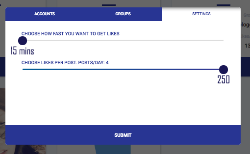Fuelgram like groups - choose your preferred speed of likes
