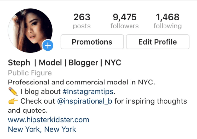 How to gain Instagram followers - optimise your bio
