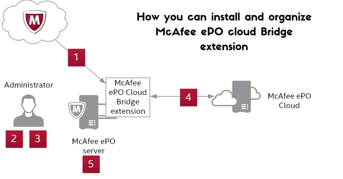How you can install and organize McAfee ePO cloud Bridge extension