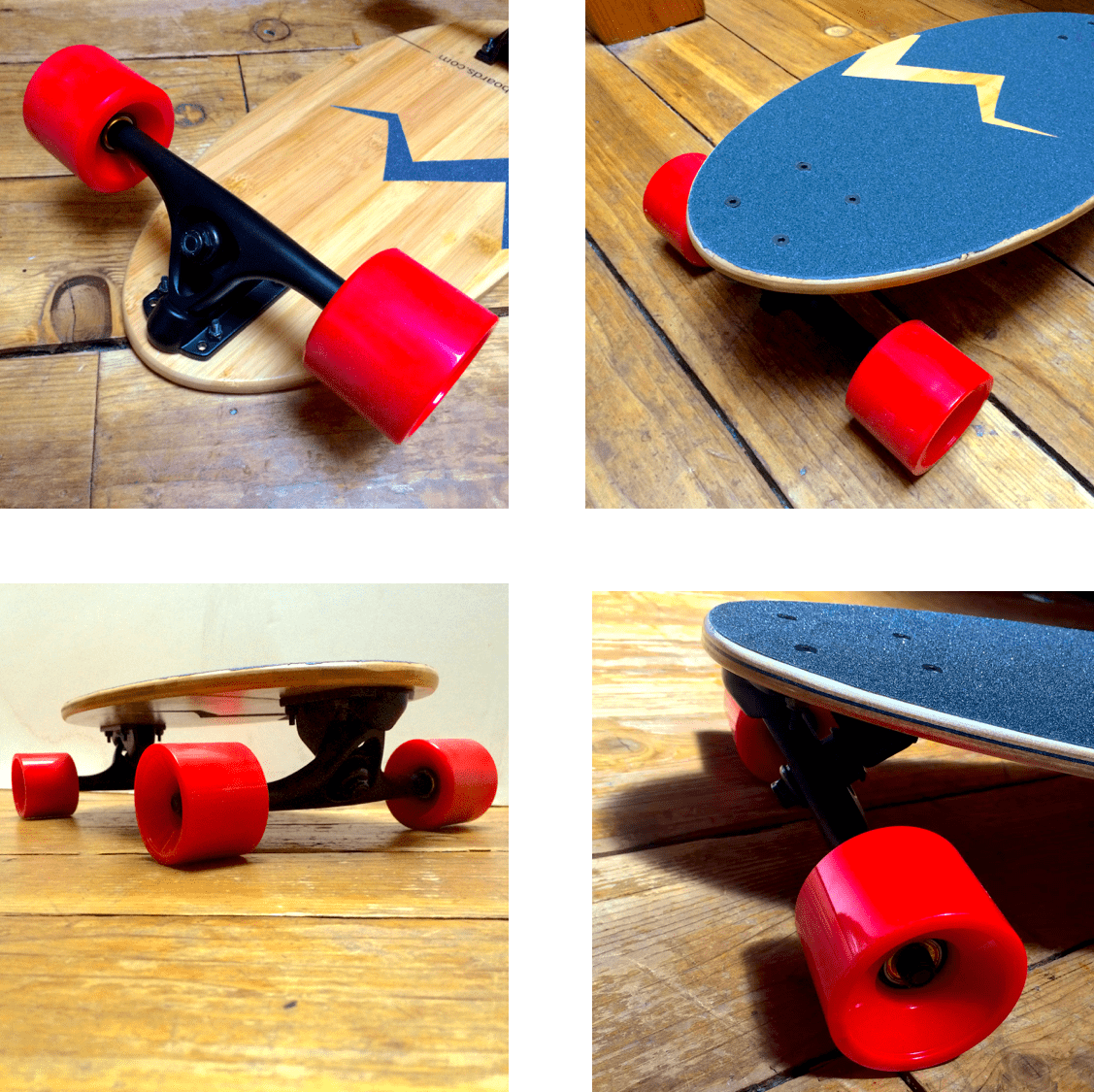 The Egg from Eggboards. Technical details: Length: 19'' | Width: 9'' | Thickness: 0.5'' | Weight: 6 lbs. 69MM x 55MM 76A wheels. Bamboo wood