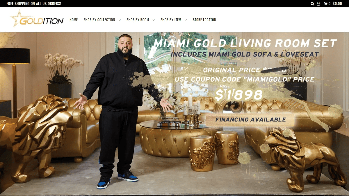 dj Khaled - goldition.com