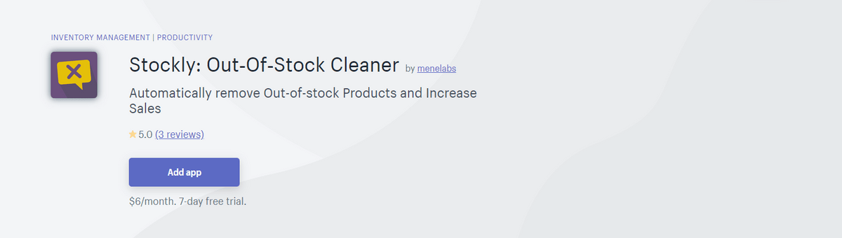 Stockly : Out-of-Stock Cleaner