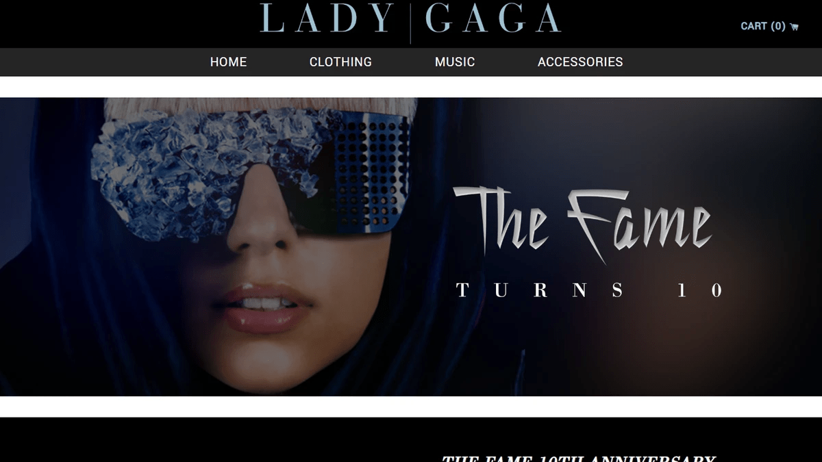 Lady Gaga - shop.ladygaga.com