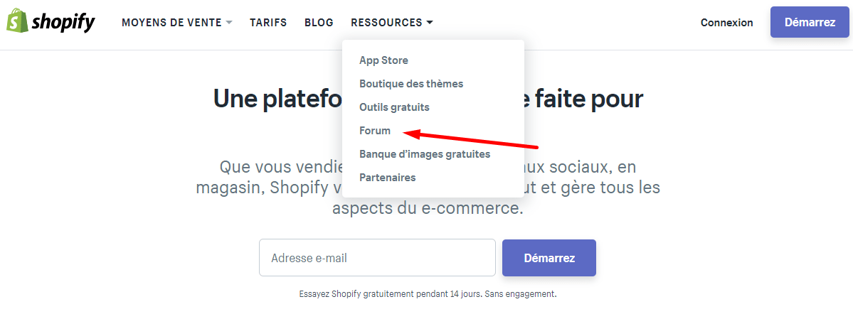 Site Shopify FR