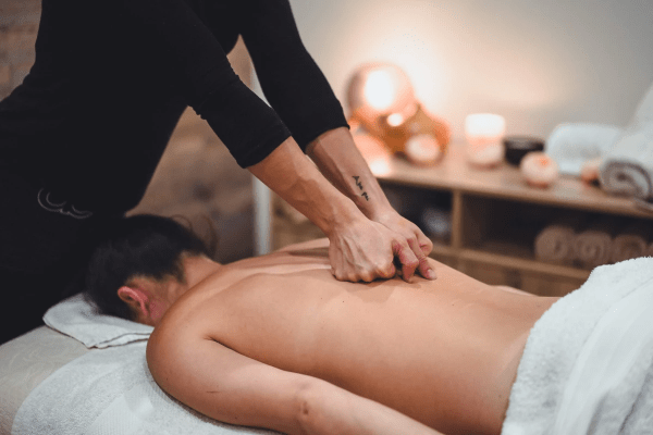 Woman receiving a Remedial Massage at Atma Wellbeing by Saura Rates