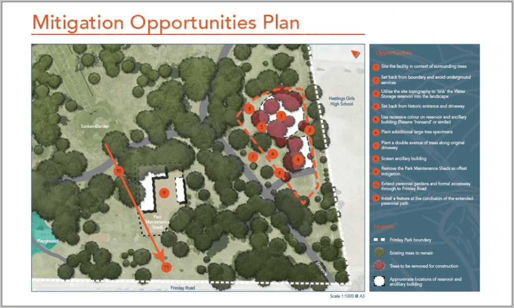 Mitigation Opportunities Plan, Water Infastructure at Frimley Park, Hastings