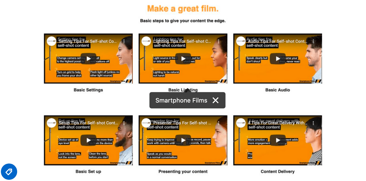 Make great films - Smartphone films resources