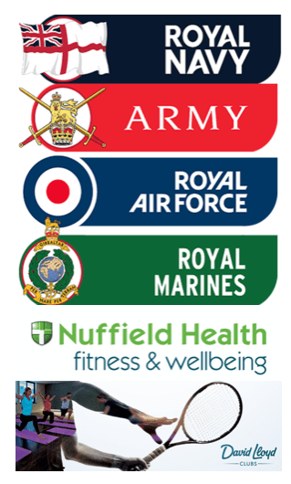 "alt=""places where broga fitness yoga can be found are the Royal Navy, the Royal Air Force, the military, Nuffield health and David Lloyd """
