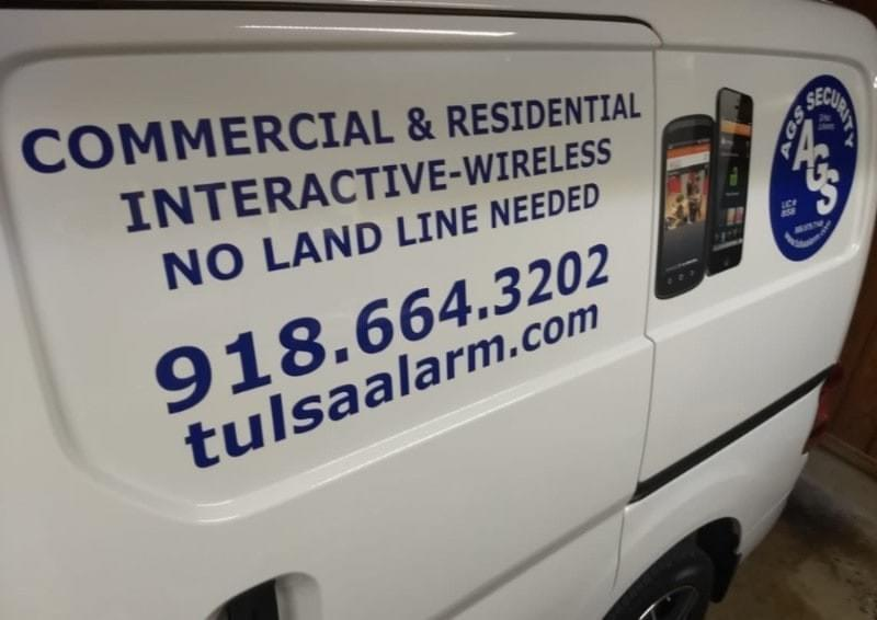 Photo of our AGS Van in Tulsa, Ok  918-664-3202