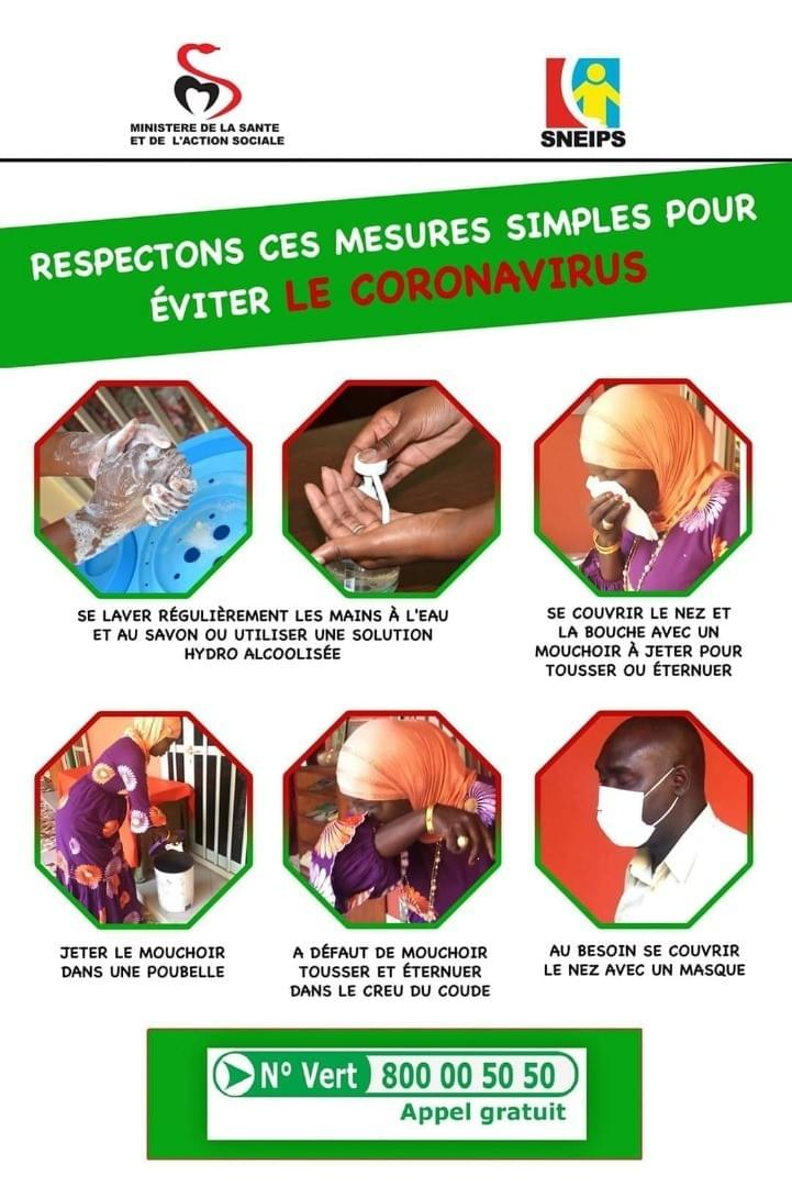 One of the Posters used by PANHACEA team members and volunteers to raise awareness and inform  citizens in the 10th District of the City of Thies, Senegal.
