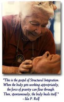 Ida Rolf creator of Rolfing Structural Integration.