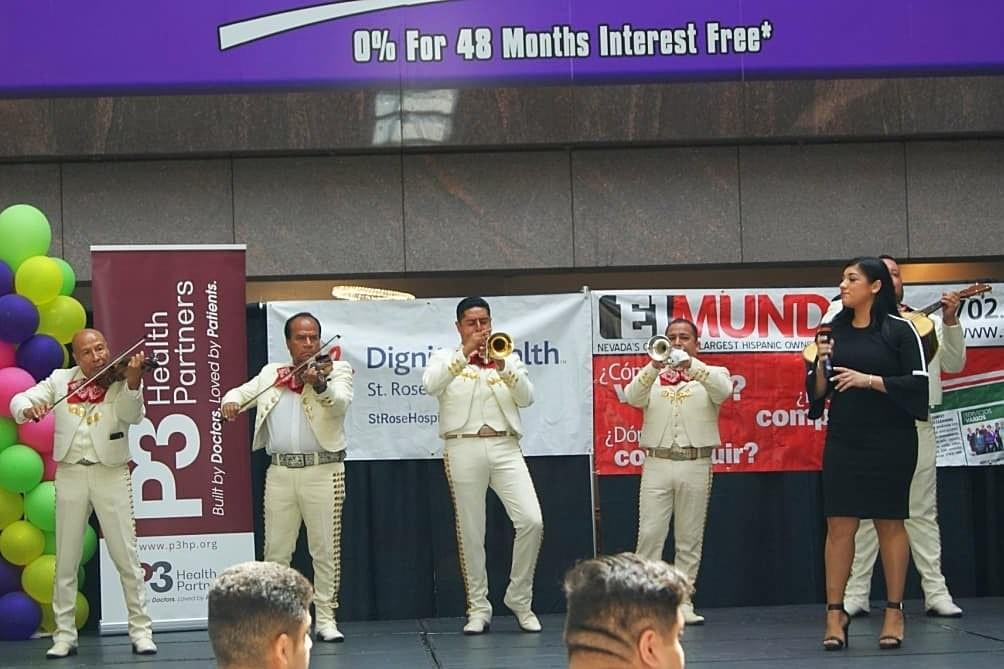Mariachi Band Plays on @ BLVD Mall La Opportunidad Expo August 4, 2018. Photo by Suzanne Morales