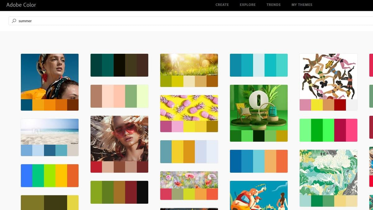 Screenshot of Adobe Color