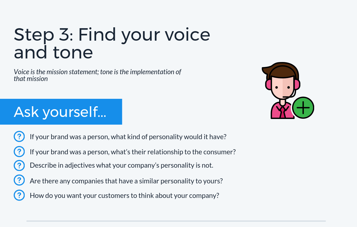 Step 3: Find your marketing voice and tone