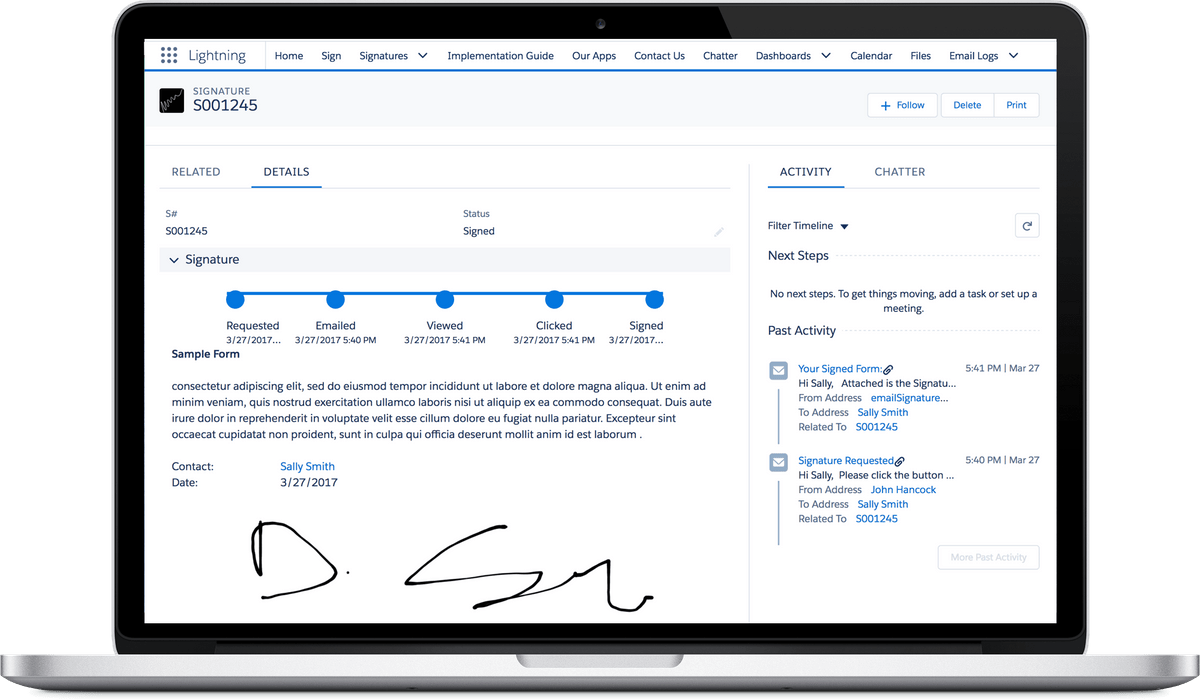 Simple Signature for Salesforce